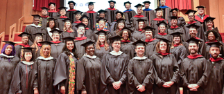 portrait of 2018 Commencement Ceremony at CTS