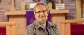 portrait of Rev. Barbara Lohrbach named 2018 Distinguished Alumni Award Winner